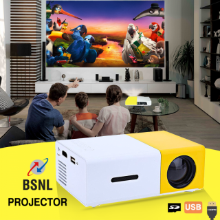 BSNL A5+ Mini LED Rechargeable Projector, With AV, USB, SD Card Slot And Remote Control Included