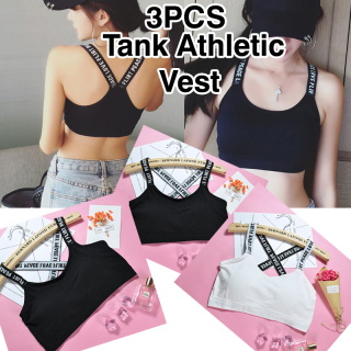 Letter Sports 3Pcs Bra Top Push Up Fitness Running Yoga Cotton Sports Tops For Women Gym Wear, GM60