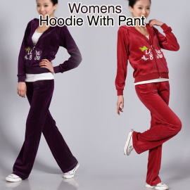 Womens Different Printed Casual Sweater Full Sleeve Hoodie With Full Sleeve Pant, STN260