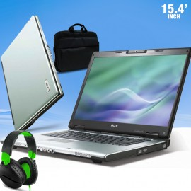 3 In 1 Bundle Offer, Acer Travel Mate 4200 series, Core 2 Duo, 2GB Memory, 80GB HDD, 15.4, Free Laptop-Bag, Sky Dude Headphone, ACT4b