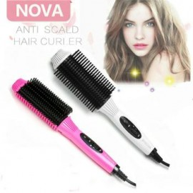 Nova Magic Salon Hair Styling Anti Scald Straightener Curler Comb, NV005