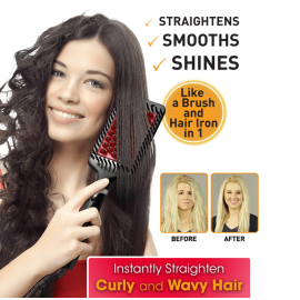 Hollywood Electric Hair Straightening Brush Ionic And Ceramic Technology, ER852