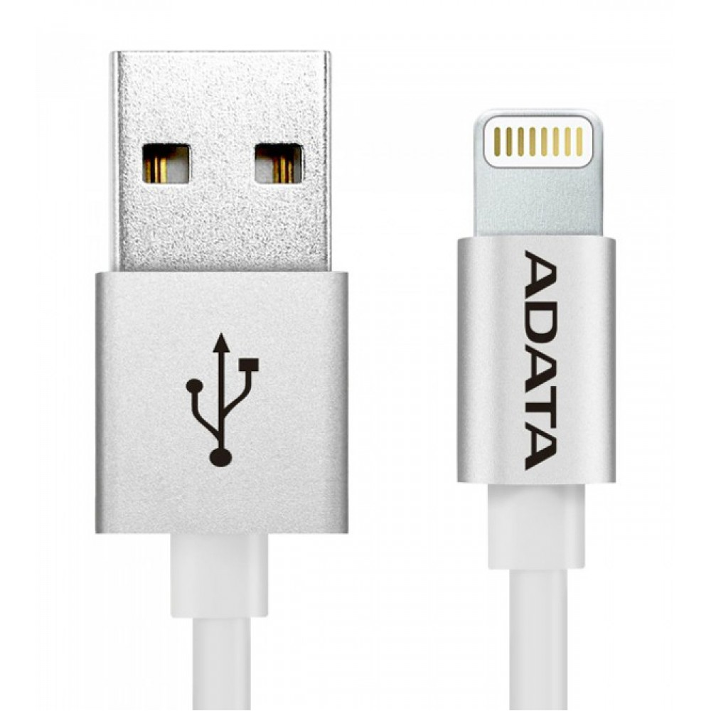 ADATA Aluminum Sync & Charge Micro USB Cable For All Android Devices, Silver
