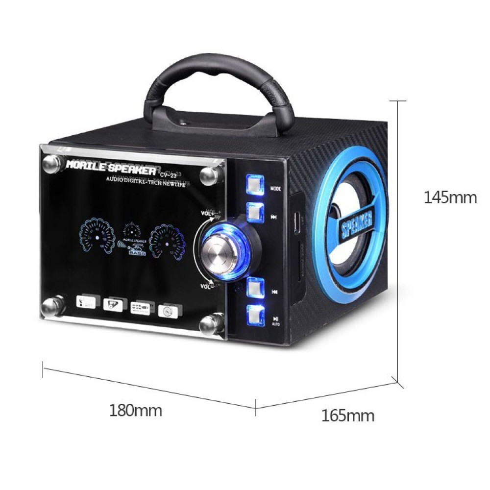 cv 23 red portable stereo bluetooth speaker sound system with fm radio aux sd usb sound box mp3