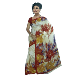 Miracle Yellow Red And White Color Indian Design Saree, M06715