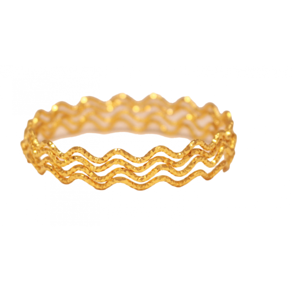 Best Arts 22K Gold Plated Indian Bangles Jewelry Set South