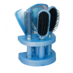 5 Pcs Professional Hair Brush And Comb,Mirror Set With Stand, G053