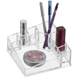 Home Basics Makeup Organizer In Clear, CR362